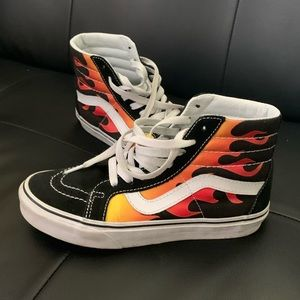Flame Vans Hightop Old Skool
